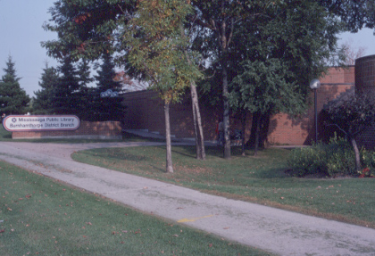 Burnhamthorpe District Library, Exterior Sign, 1982