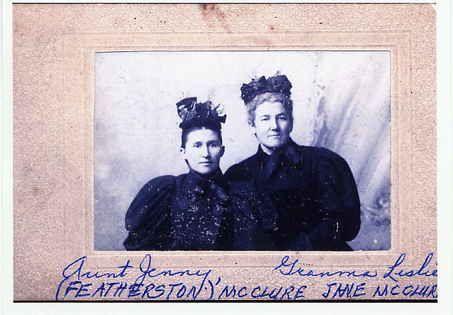 Jenny Featherston McClure and Jane McClure Leslie