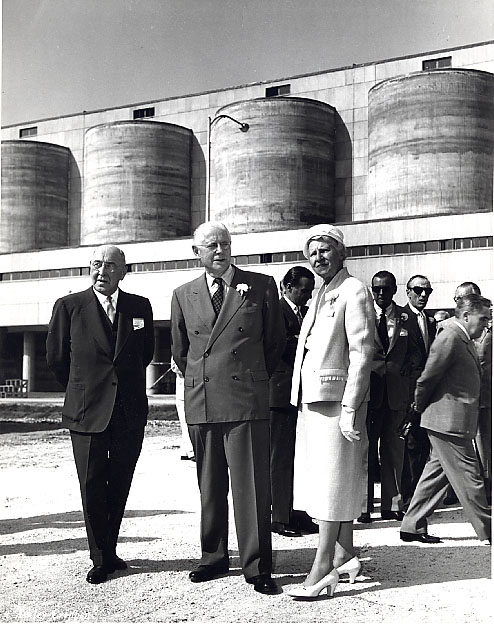 Mary Fix at the Official Opening of St. Lawrence Cement Plant, Clarkson