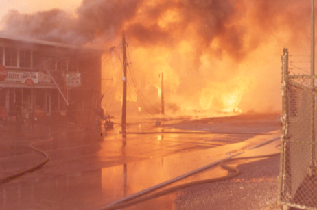The Fire at Variety Store, Derry Road, Malton Gas Fire, 1969