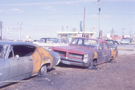 Cars Burned in the Malton Gas Fire, 1969