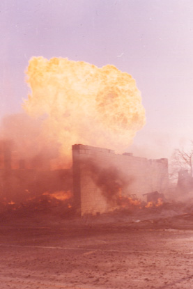 The Four Corners Business Section Destroyed in the Malton Gas Fire, 1969