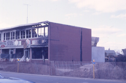 The Orenda Restaurant and Variety Store after the Malton Gas Fire, 1969
