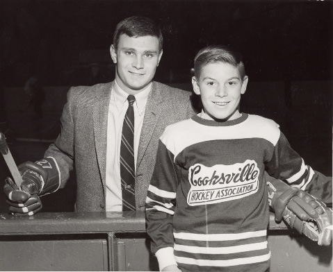 Brit Selby with a Cooksville Team Member at Maple Leaf Gardens, Toronto