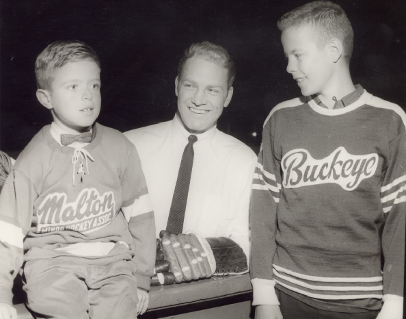 Bobby Hull with Toronto Township Team Members at Maple Leaf Gardens