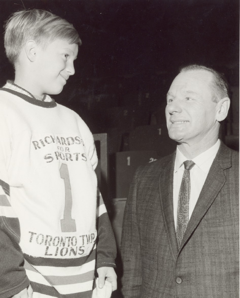 Johnny Bower and Toronto Township Team Member at Maple Leaf Gardens