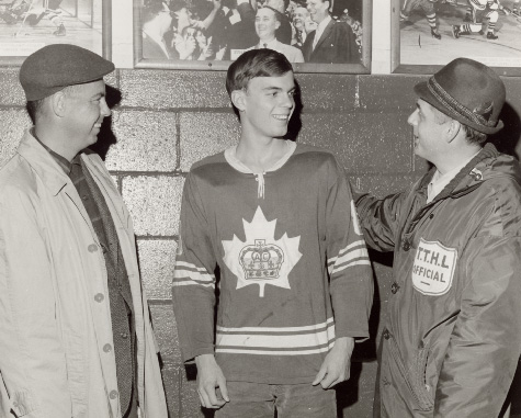 Richie Bayes, Mike Masewich at Right, at Maple Leaf Gardens