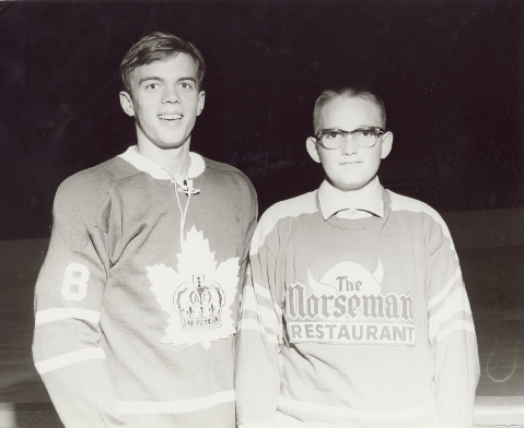 Richie Bayes and a Toronto Township Junior Player at Maple Leaf Gardens