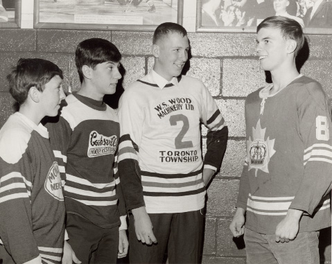 Richie Bayes and Toronto Township Junior Players at Maple Leaf Gardens