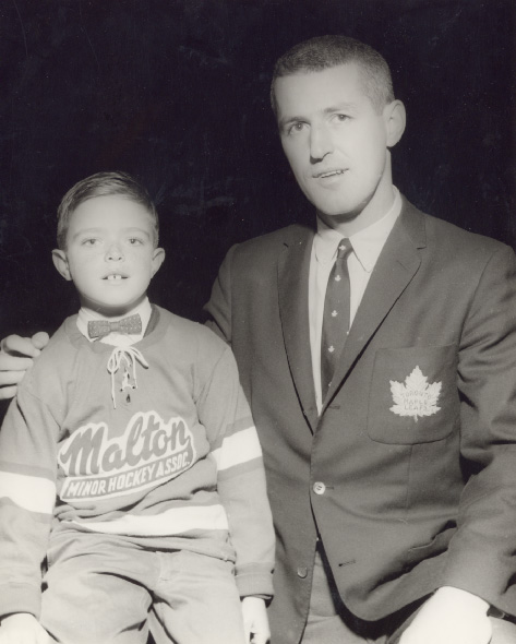 Billy Harris and a Malton Team Member at Maple Leaf Gardens