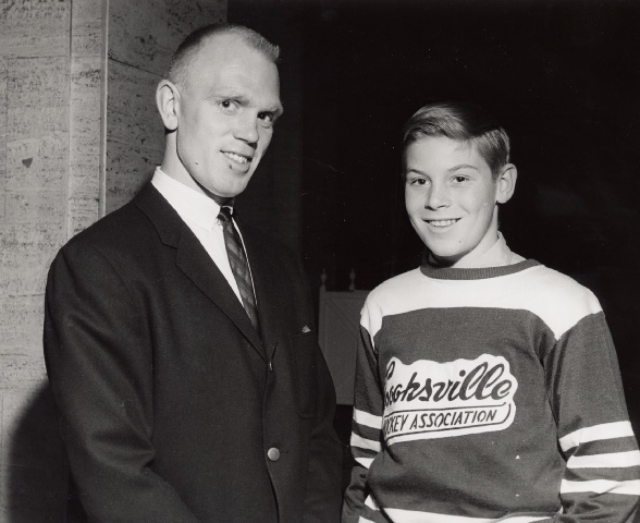 Ron Schock and a Cooksville Team Member at Maple Leaf Gardens