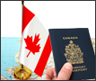 Passport, Map of Canada and Flag