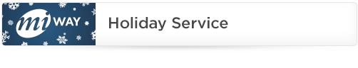 MiWay Holiday Season Service