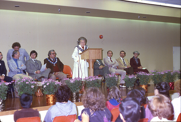 Mississauga Valley Branch Library, Official Opening, 1979.