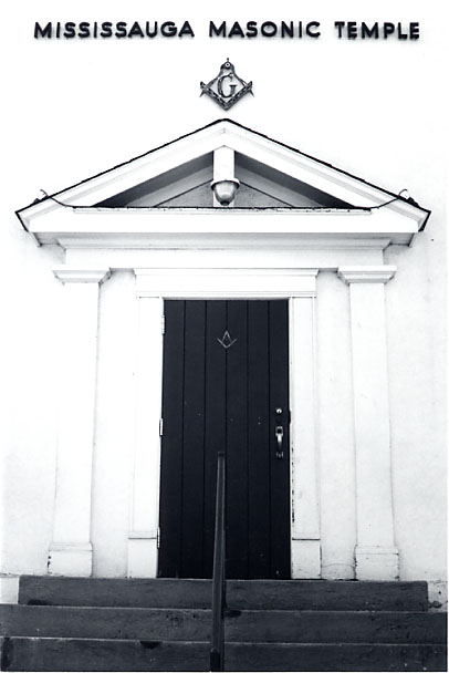 Masonic Temple, Front Door, Port Credit