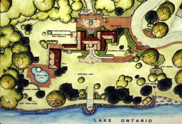 Adamson Estate, Plan Drawings, Lakeview