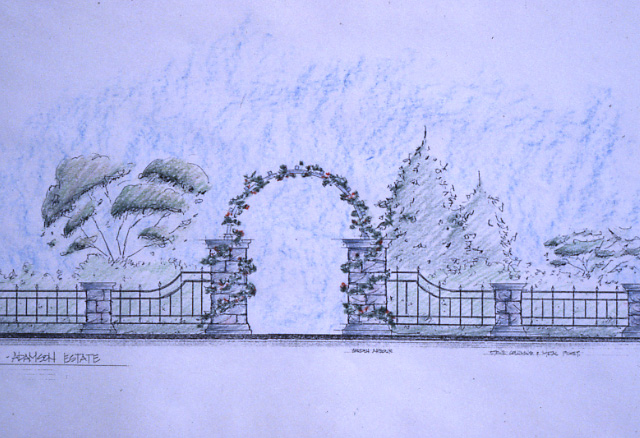 Adamson Estate, Sketch of Entrance Gates, Lakeview