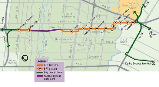 Mississauga Transit Map Mississauga.ca   MiWay   BRT Basics