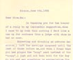 Letter: Henry Harris Groff to Naomi Harris June 8 1926