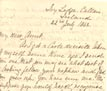 Letter: John Alexander to Mrs. J.B. Harris July 22 1862