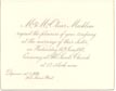 Invitation: Wedding of Jessie Macklem & Charles E. Fleming 1882