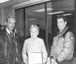 Photograph- Mayor McCallion with two unidentified Mississauga emergency workers