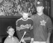 Photograph-Bobb Haggart with two unidentified Toronto Township Hockey Players