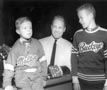 Photograph- Bobby Hull with two unidentified TTHL players