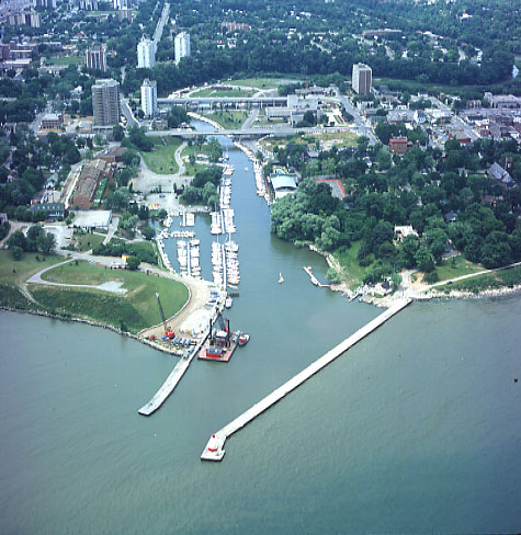 Oakville Harbour, Aerial View
