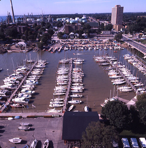 Port Credit Yacht Club, Aerial View