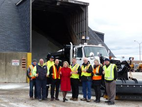 Mayor Bonnie Crombie, Mickey Frost - Director, Works Operations and Maintenance, along with other Works staff