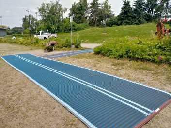 Accessible beach route installed at Lakefront Promenade Park