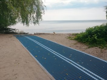 Accessible beach route installed at Jack Darling Memorial Park
