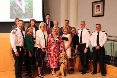 Ajax with Mayor Crombie, Members of Council and MFES staff