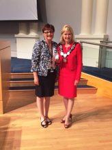 Janice Baker and Mayor Crombie