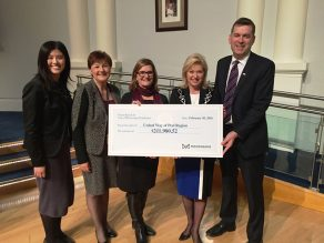 United Way Cheque Presentation with Mayor & CFO