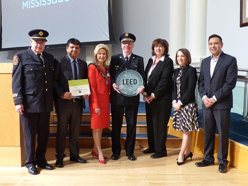 Mayor Crombie with MFES LEED Presentation