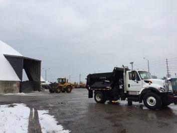 Photo of snow clearing truck at Mavis Yard