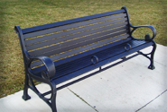 Upgraded bench made of metal