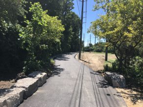 New paved trail
