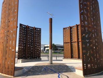 A public art piece structure