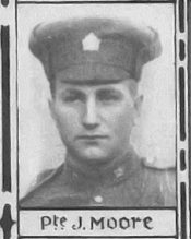 Black and white portrait of John in uniform