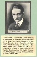 Newspaper clipping with photo of Charles