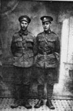 Black and white portrait of Frederick and his brother Arthur