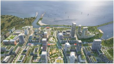 Applicant's rendering of the proposed development in Lakeview Waterfront Development Plans