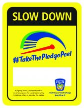 Certificate for the Take the Pledge Peel Program