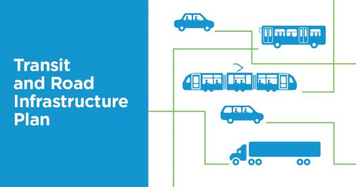 Transit and Road Infrastructure Plan graphic