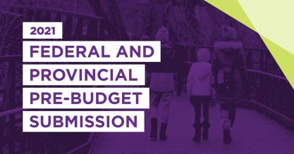 Graphic for federal and provincial pre-budget submission