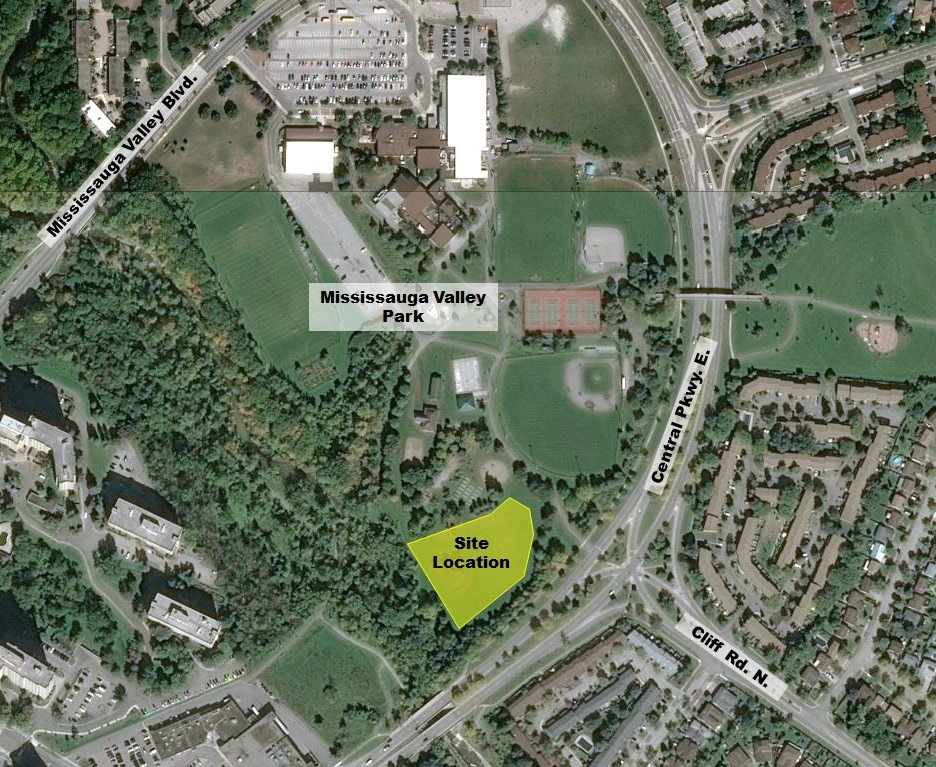 Mississauga Valley Stormwater Management Facility location
