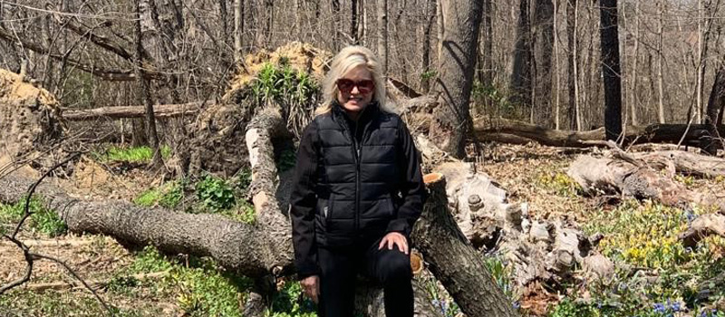 Mayor Bonnie Crombie in a forested area